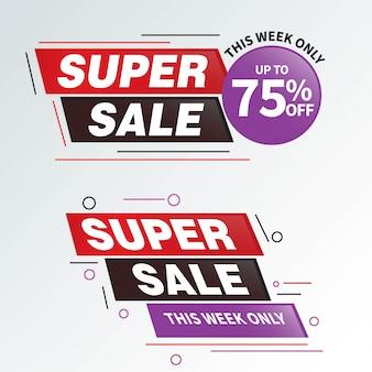 Venta oferta especial y diseño de etiquetas de precio.
