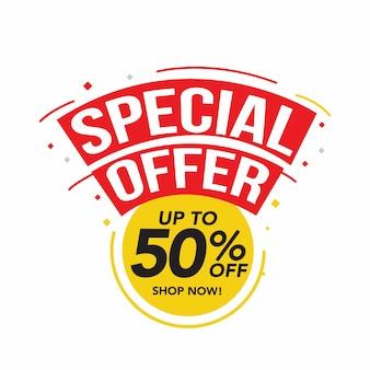 Venta y oferta especial, etiquetas de precio