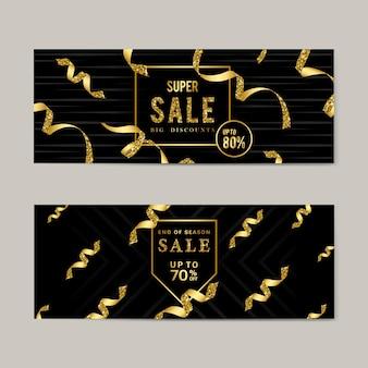Venta de oro signo conjunto de vectores