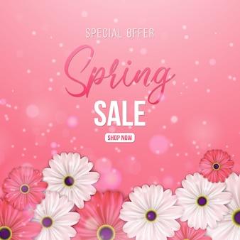 Venta de primavera para banner