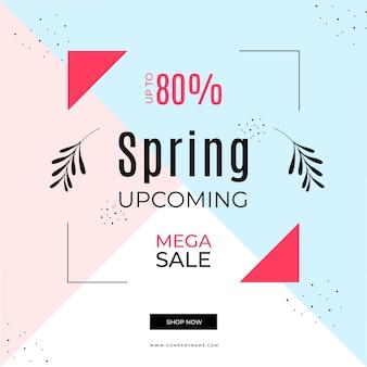 Venta de primavera en estilo memphis
