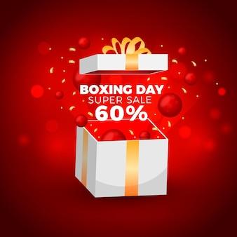 Venta realista del día del boxeo