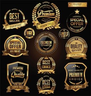 Venta retro vintage oro insignias