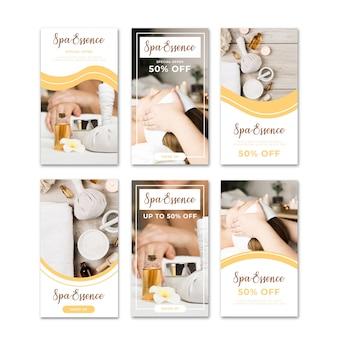Venta spa banner instagram historias conjunto