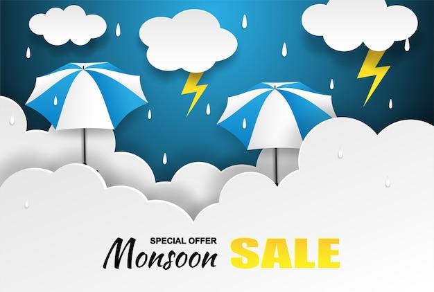 Venta de la temporada del monzón