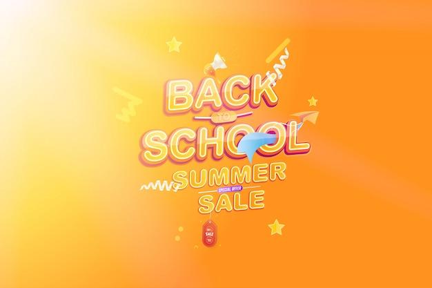 Venta de verano de regreso a la escuela.
