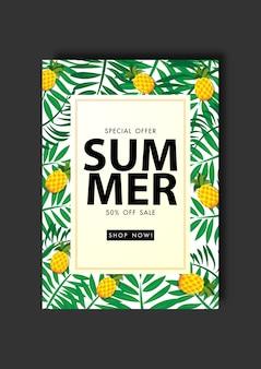 Venta de verano venta de ilustración de vector de fondo de plantilla