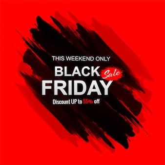 Venta de viernes negro con banner de trazo