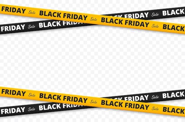 Venta de viernes negro cintas de viernes negro aisladas ilustración vectorial