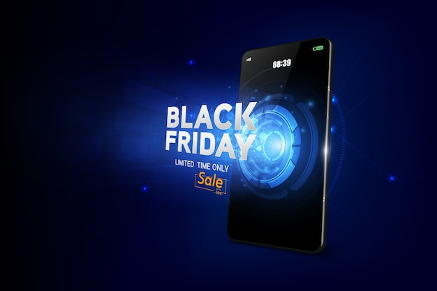 Venta de viernes negro en el móvil