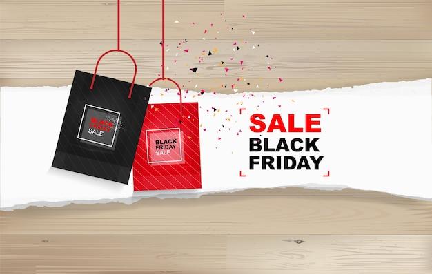 Venta de viernes negro. plantilla de promoción comercial