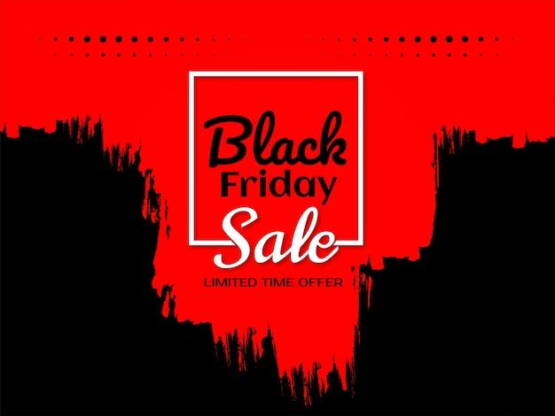 Venta de viernes negro promocional fondo rojo grunge