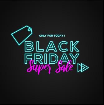 Venta de viernes negro solo para hoy con pincel y fondo abstracto