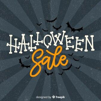Venta vintage de halloween con murciélagos