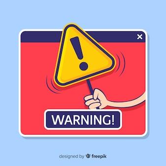 Ventana emergente aviso de peligro