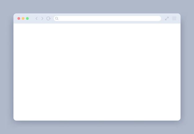 Ventana del navegador en blanco