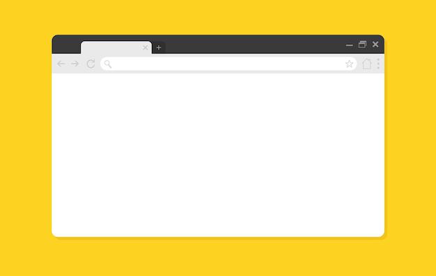 Ventana del navegador en blanco.