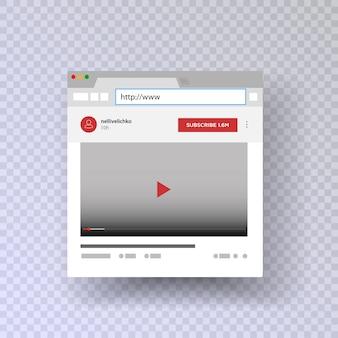 Una ventana del navegador con un canal de youtube