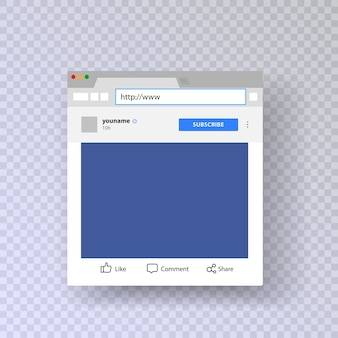 Ventana del navegador con cuenta de instagram
