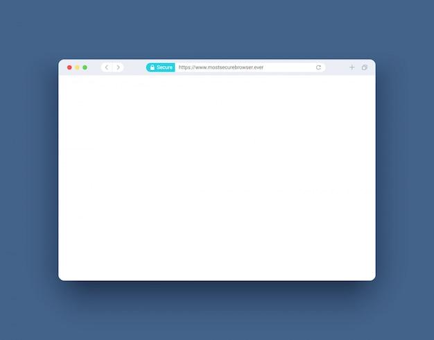 Ventana del navegador en estilo moderno