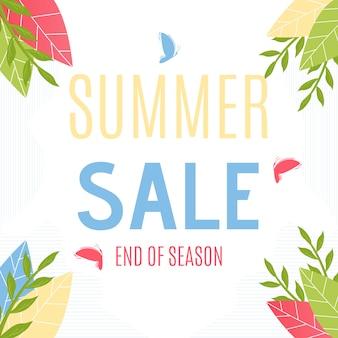 Ventas de verano hasta fin de temporada. caída del gran precio