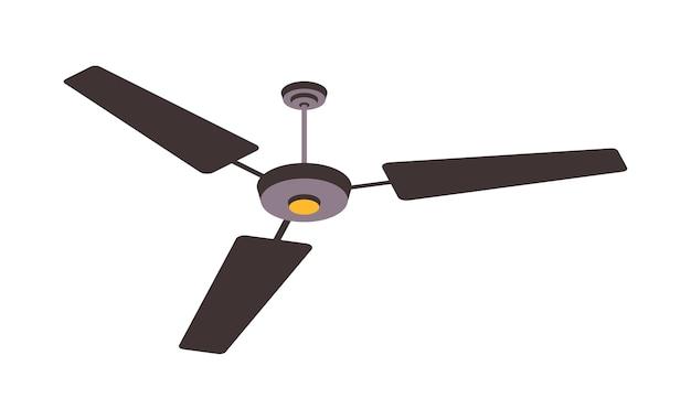 Ventilador eléctrico aislado en el fondo. dispositivos domésticos para refrigeración y acondicionamiento de aire, ilustración de control de clima