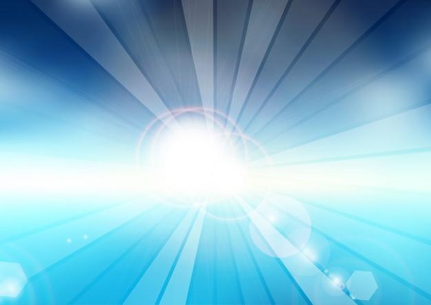 Verano abstracto con diseño de rayos de sol
