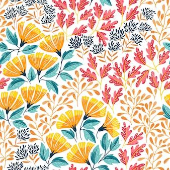 Verano brillante patrón sin costuras