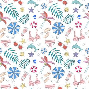 Verano de elemento de patrones sin fisuras en la playa