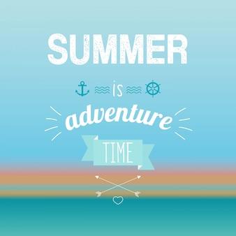 El verano es aventura vintage poster