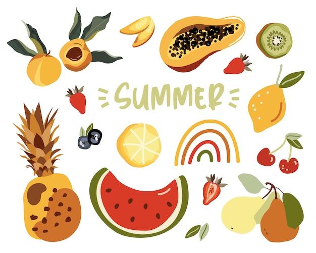 Verano con frutas.