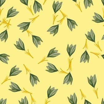 Verano de patrones sin fisuras con formas de flores crcous de contorno aleatorio.