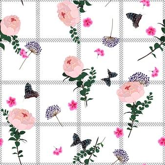 Verano de patrones sin fisuras rama de primavera delicado