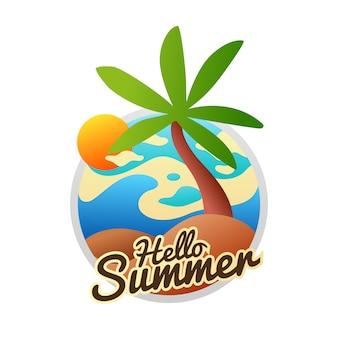 Verano playa coco árbol vacaciones sol