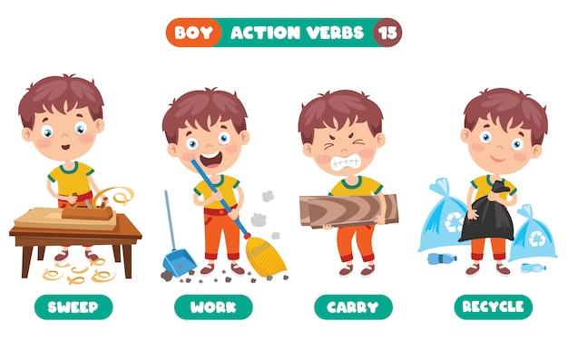 Verbos de acción para la educación infantil