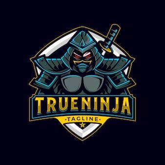 Verdadero logotipo de mascota ninja