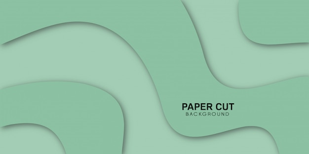Verde abstracto con elegantes formas onduladas.