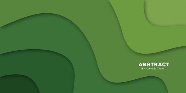 Verde abstracto. ilustración vectorial
