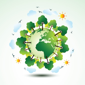 Verde eco tierra