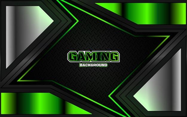 Verde futurista sobre fondo oscuro de juegos