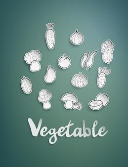 Verduras a mano alzada.