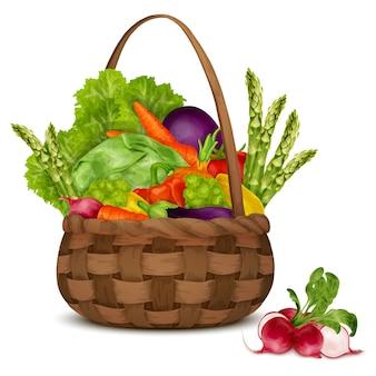 Verduras en la cesta