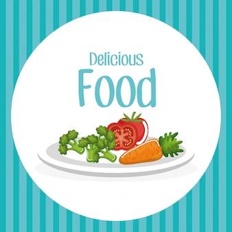 Verduras deliciosa comida desayuno