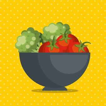Verduras frescas comida sana