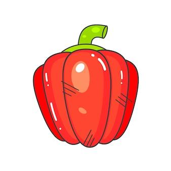 Verduras frescas de pimiento rojo