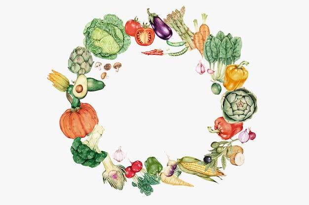 Verduras frescas saludables