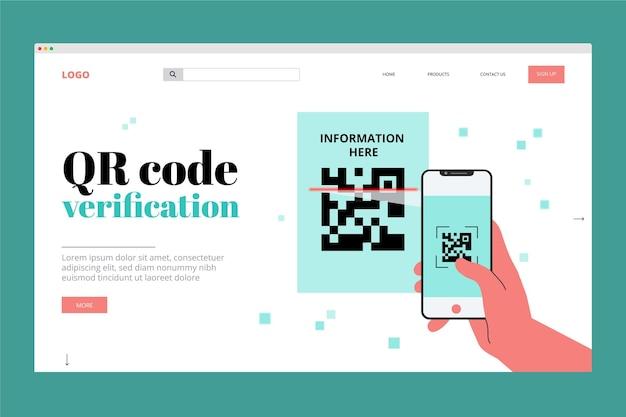 Verificación del código qr - página de destino