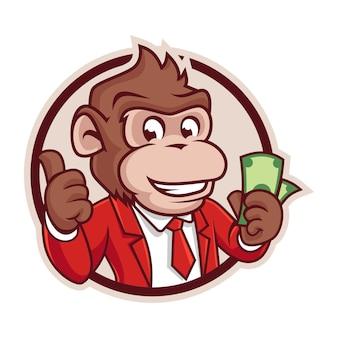Versión de la insignia de monkey cash