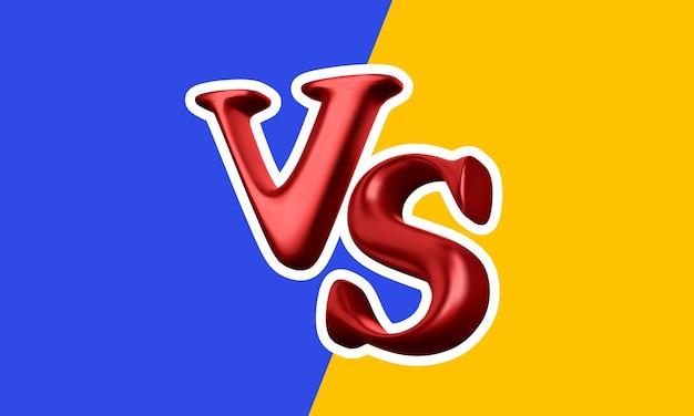 Versus antecedentes de batalla. vs titular de batalla. competiciones entre luchadores o equipos. ilustración vectorial.
