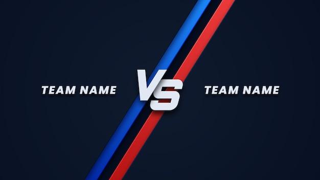 Versus antecedentes para deportes y competencia de lucha.